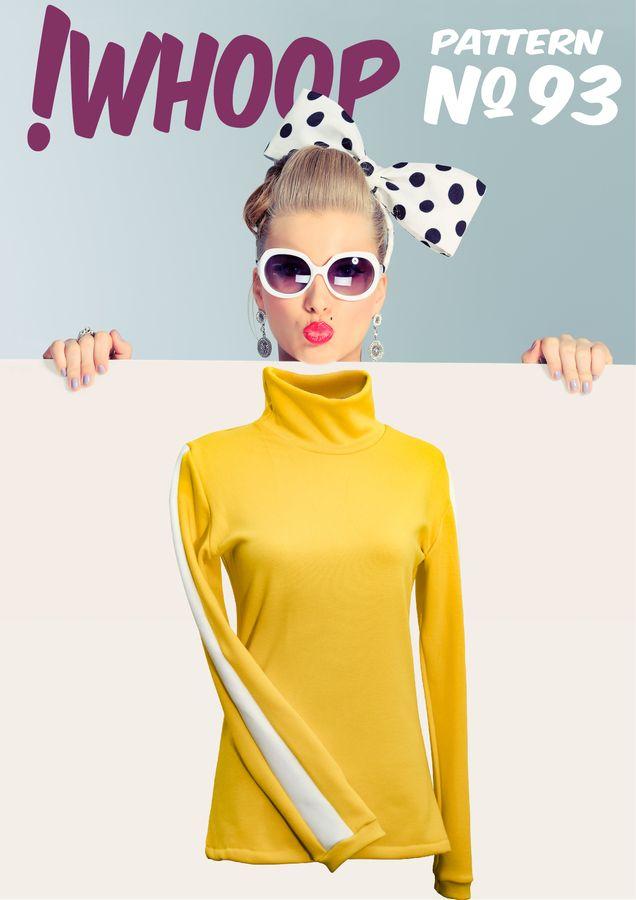 Produktfoto von !Whoop patterns für Schnittmuster # 93 Pullover mit Rollkragen