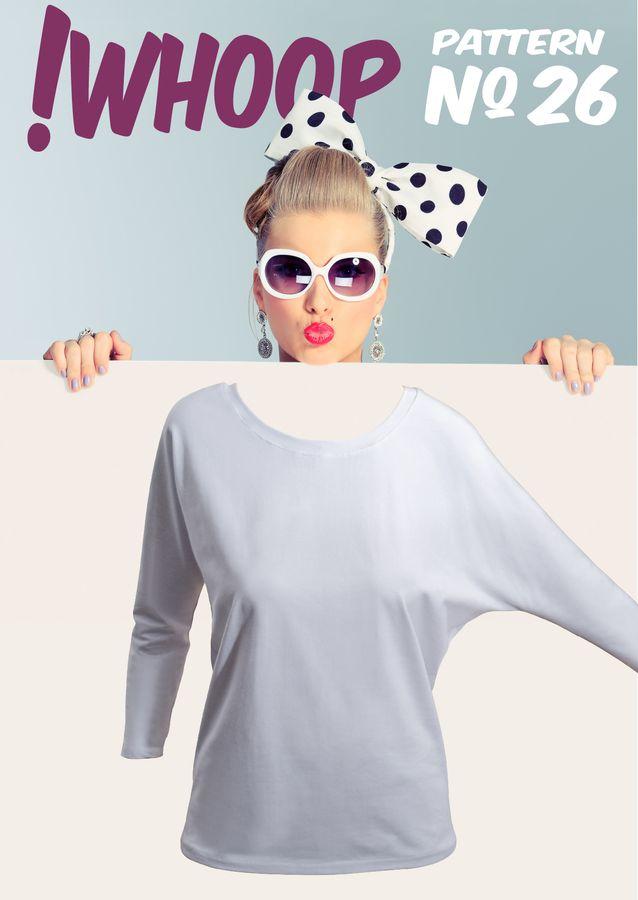 Produktfoto von !Whoop patterns für Schnittmuster #26 Shirt mit Fledermausärmeln