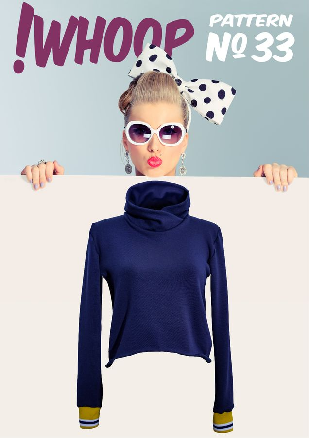 Produktfoto von !Whoop patterns für Schnittmuster #33 Kurzpullover
