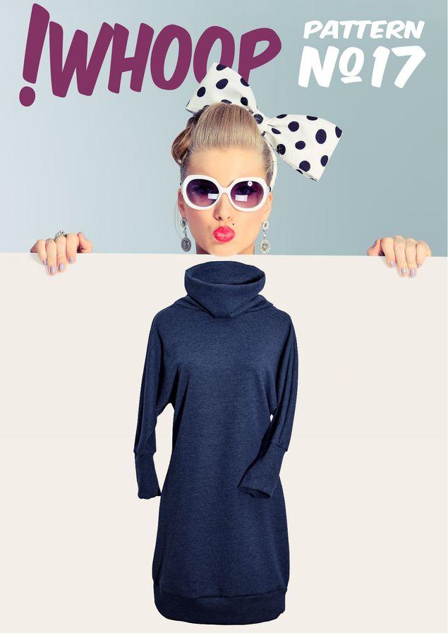 Produktfoto von !Whoop patterns für Schnittmuster #17 Kleid mit Fledermausärmeln
