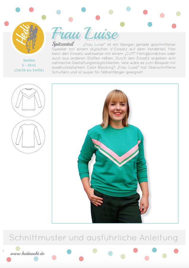 Produktfoto von Hedi für Schnittmuster Pulli Frau Luise