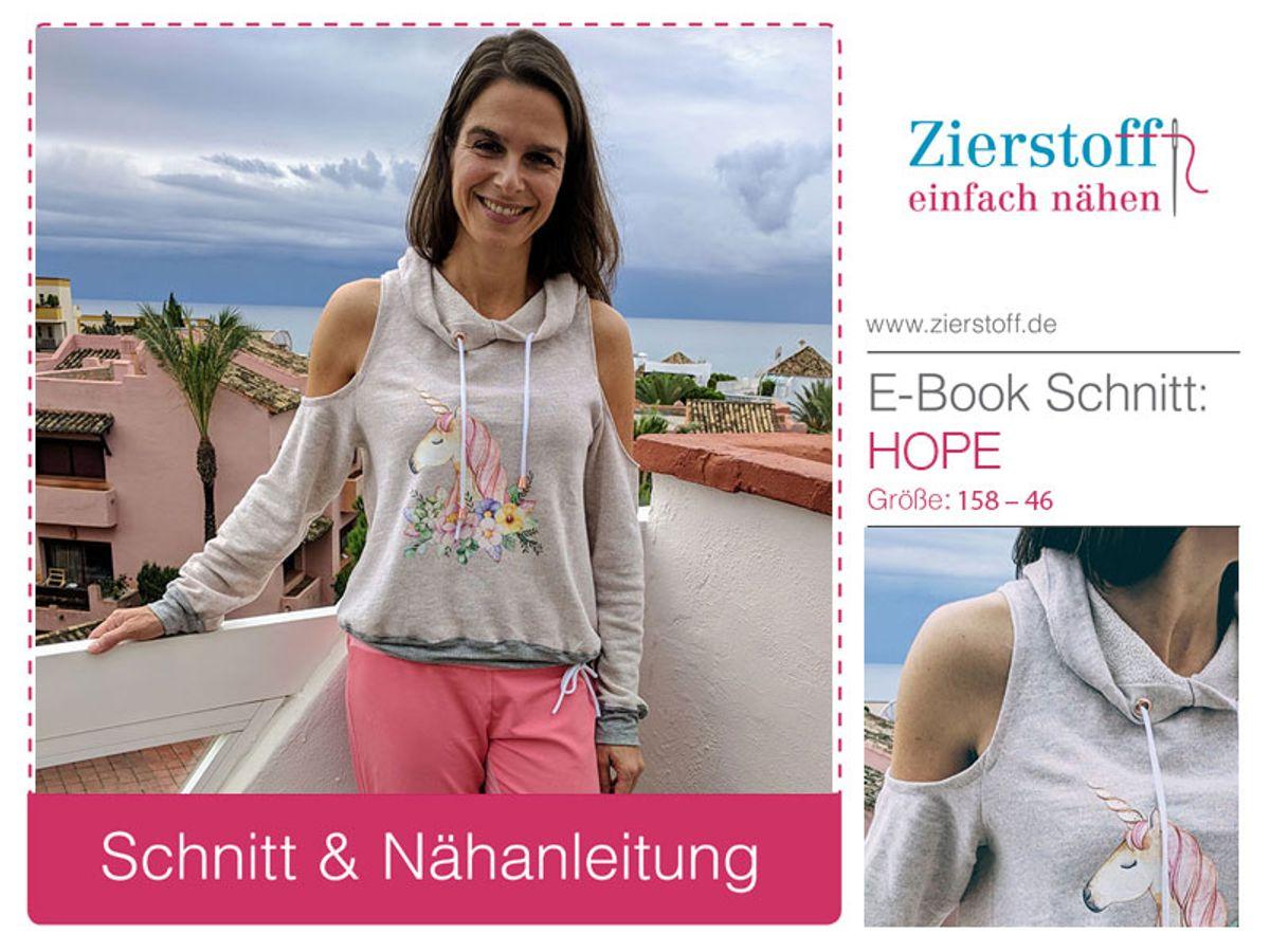 Produktfoto von Zierstoff für Schnittmuster Hope 158-46