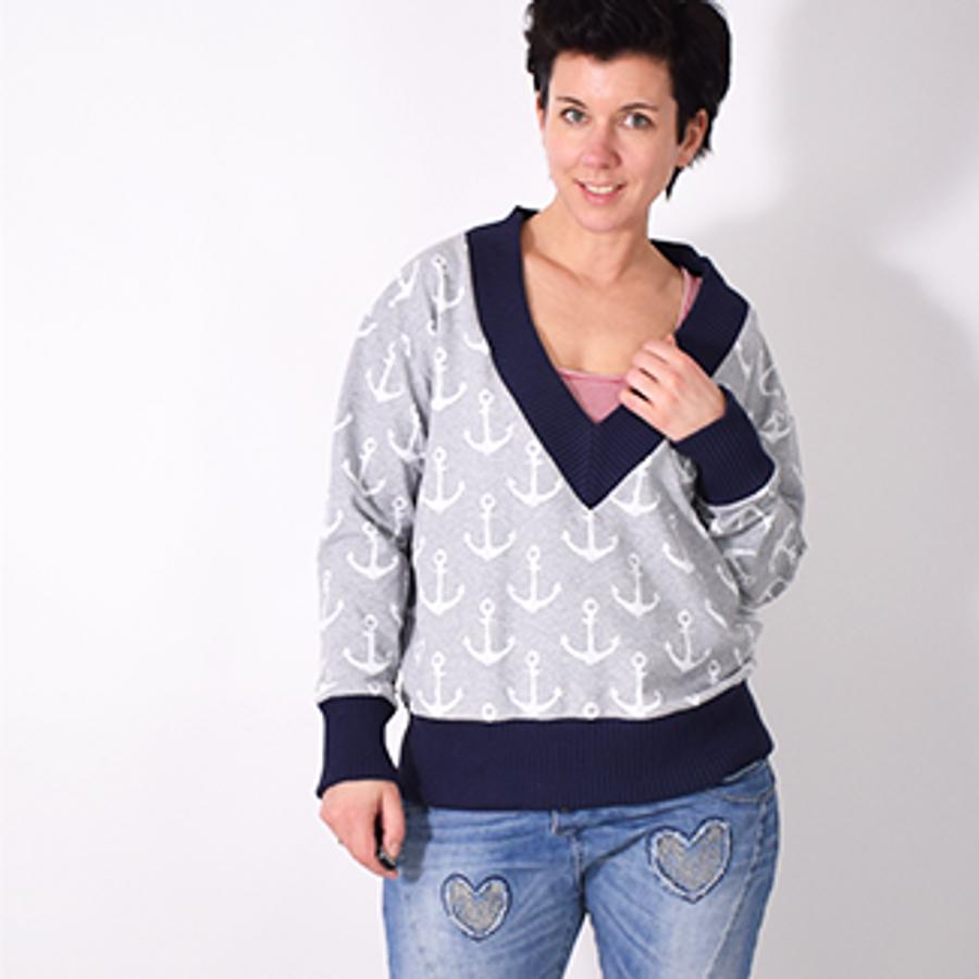 Produktfoto von Leni Pepunkt für Schnittmuster V-NECK.pulli