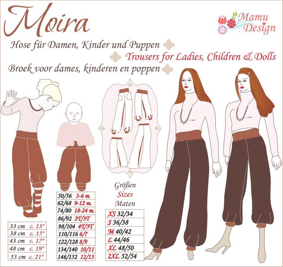 Produktfoto von Mamu Design für Schnittmuster Moira