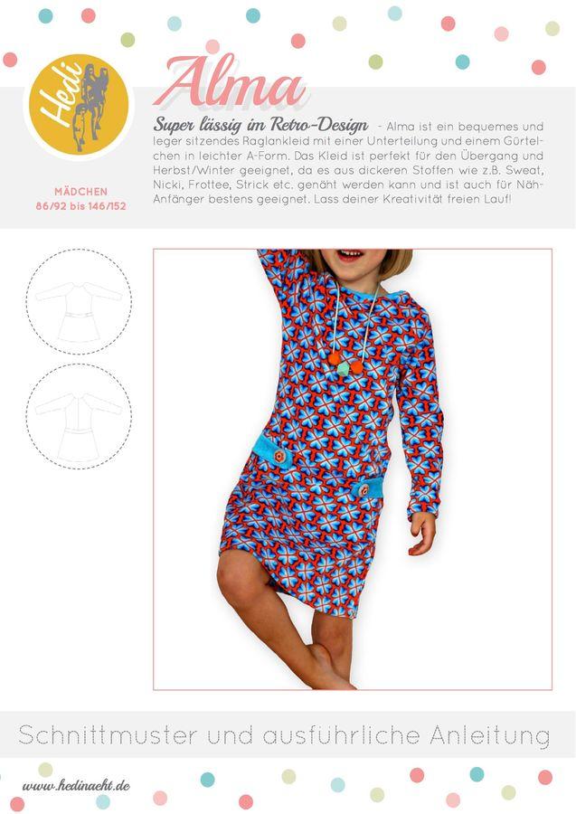 Produktfoto von Hedi für Schnittmuster Raglankleid Alma