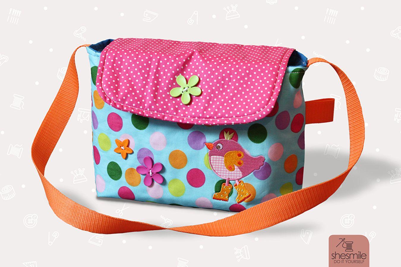 Produktfoto von shesmile für Schnittmuster Kindergarten-Tasche Milla