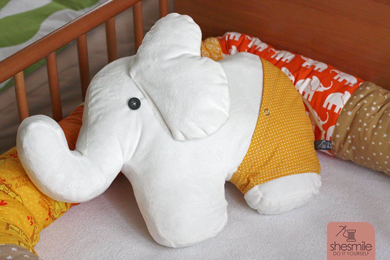 Schnittmuster Elefanten-Kuscheltier \