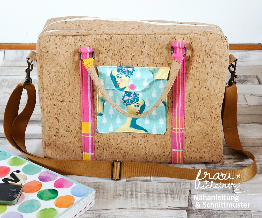 Produktfoto von Frau Scheiner für Schnittmuster Notebooktasche