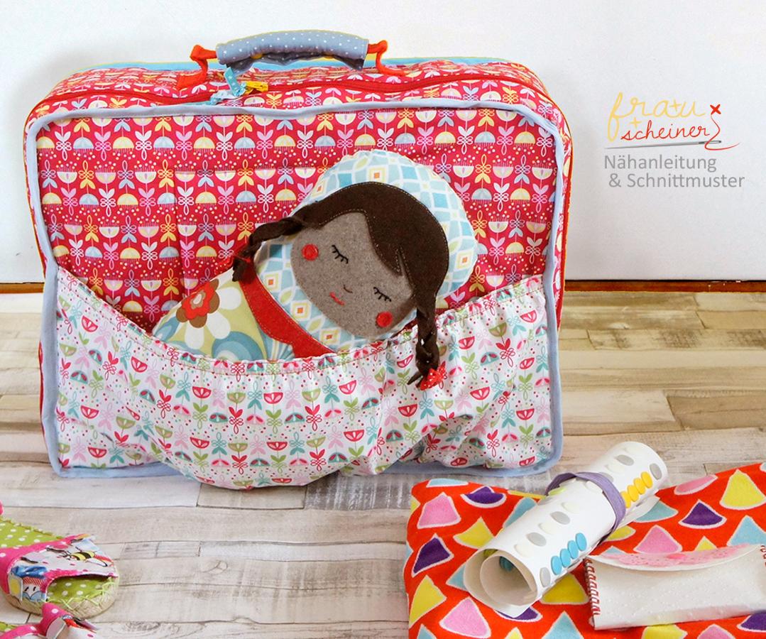 Produktfoto von Frau Scheiner für Schnittmuster Kinder-Reisekoffer