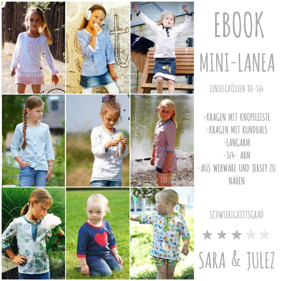 Produktfoto von Sara & Julez für Schnittmuster Mini-Lanea