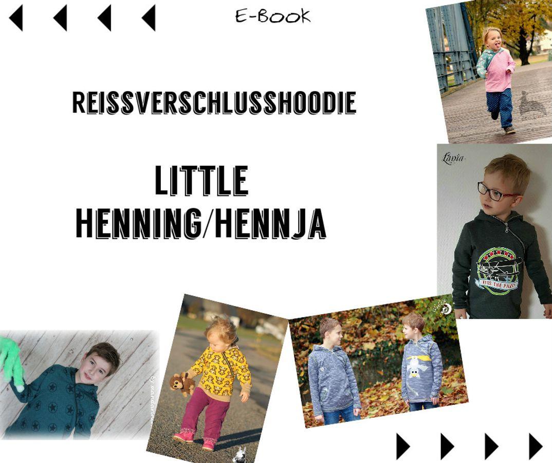 Produktfoto von Mamili1910 für Schnittmuster Reißverschlusshoodie Little Henning/Hennja