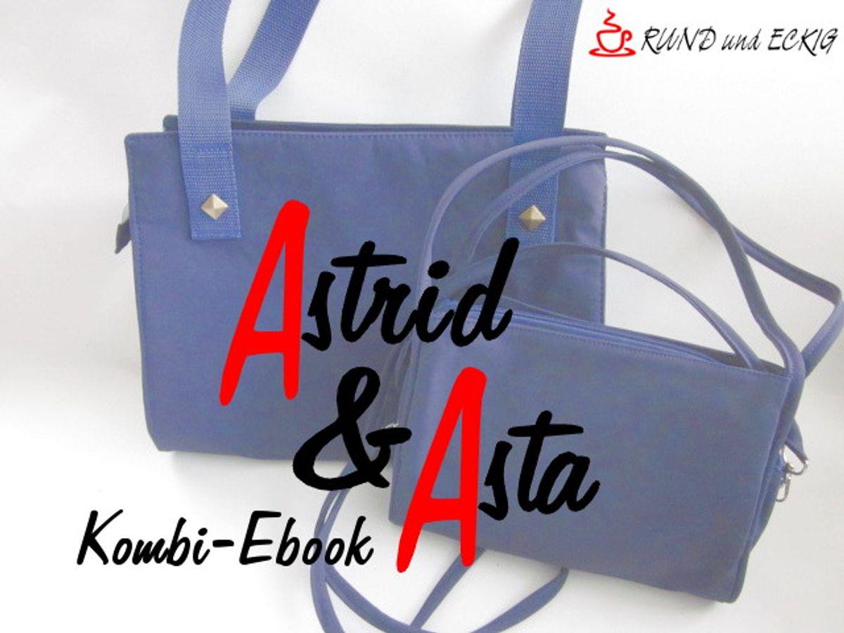 """Produktfoto 1 von RUND und ECKIG für Schnittmuster Kombi-Ebook Taschen """"Astrid"""" & """"Asta"""""""