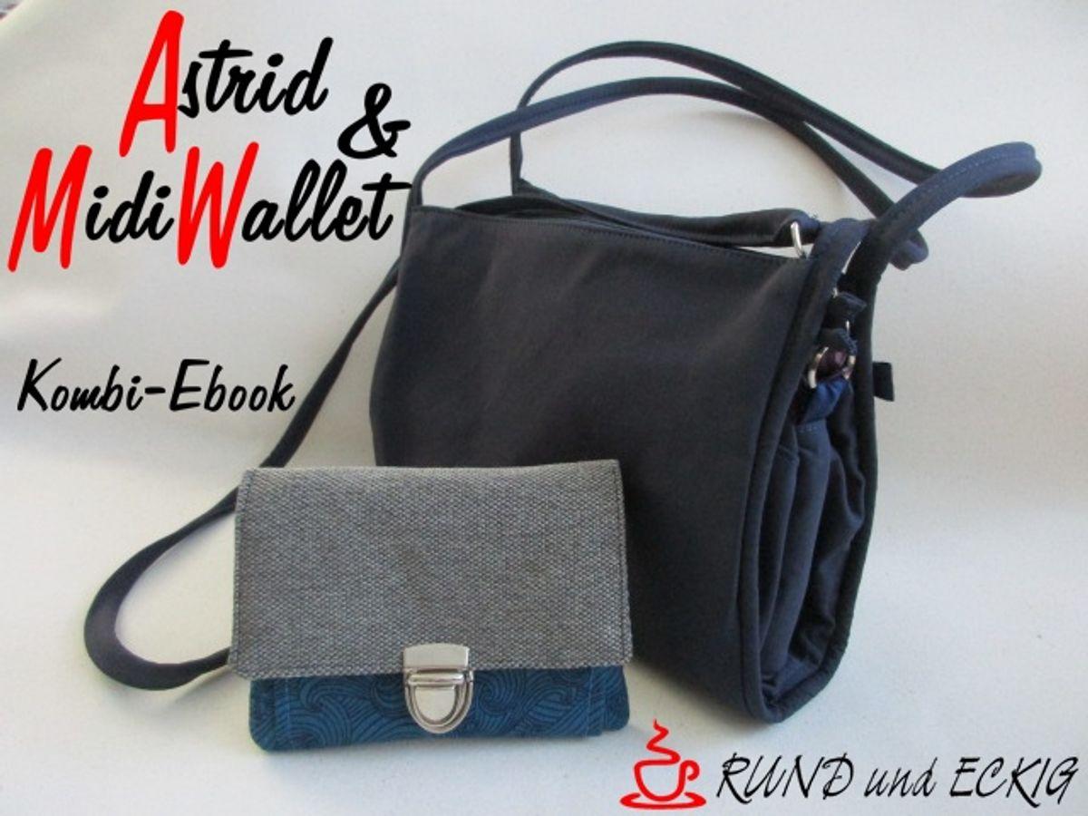 """Produktfoto 1 von RUND und ECKIG für Schnittmuster Kombi-Ebook Tasche """"Astrid"""" & """"MidiWallet"""""""