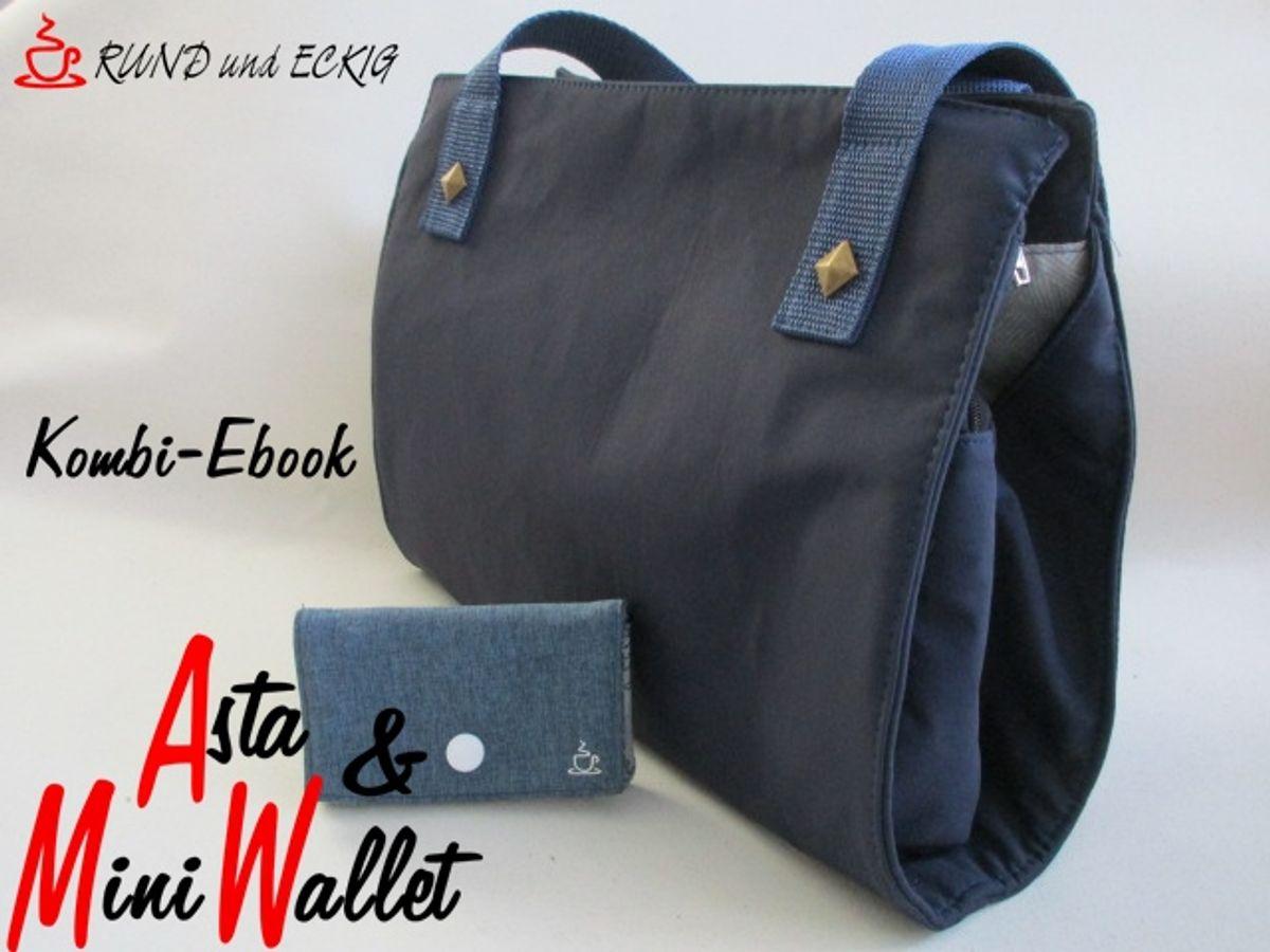 """Produktfoto 1 von RUND und ECKIG für Schnittmuster Kombi-Ebook Tasche """"Asta"""" & """"MiniWallet"""""""