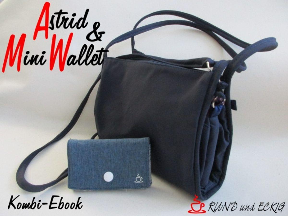 """Produktfoto 1 von RUND und ECKIG für Schnittmuster Kombi-Ebook Tasche """"Astrid"""" & """"MiniWallet"""""""