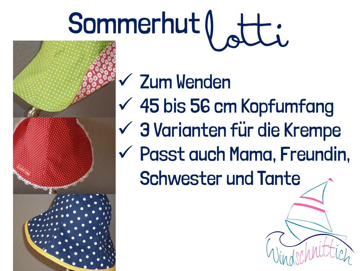Produktfoto 6 von Windschnittich für Schnittmuster Bandana + Sommerhut Lotti