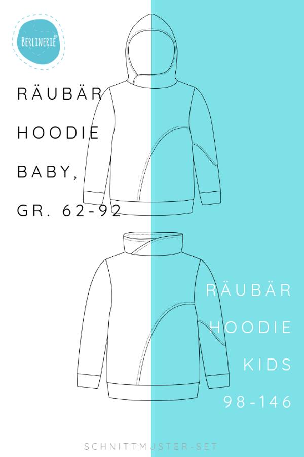 Produktfoto 1 von Berlinerie für Schnittmuster Räubärhoodie Baby+Kids Gr. 62-146