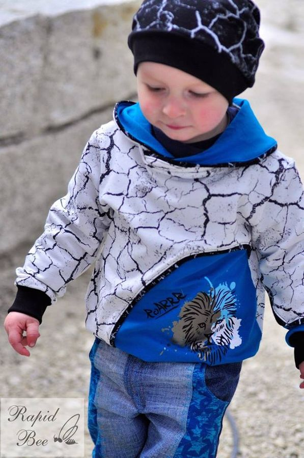 Produktfoto 8 von Berlinerie für Schnittmuster Räubärhoodie Baby+Kids Gr. 62-146
