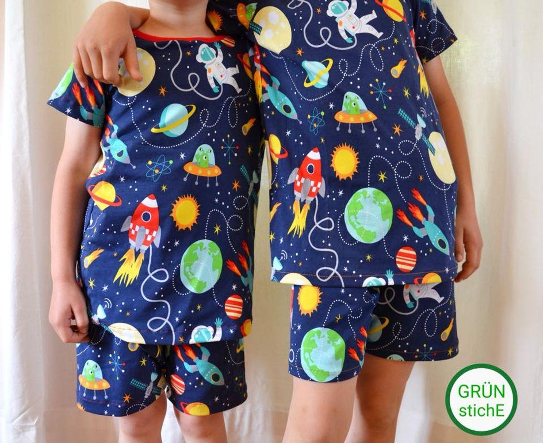 Produktfoto 11 von Happy Pearl für Schnittmuster  Happy Goodnight - Schlafshorty   Nachthemd   Pyjama