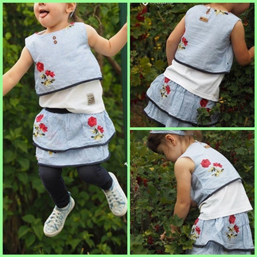 Produktfoto 7 von Rosalieb & Wildblau für Schnittmuster Kombi-Ebook Floria Girls + Floria Damen