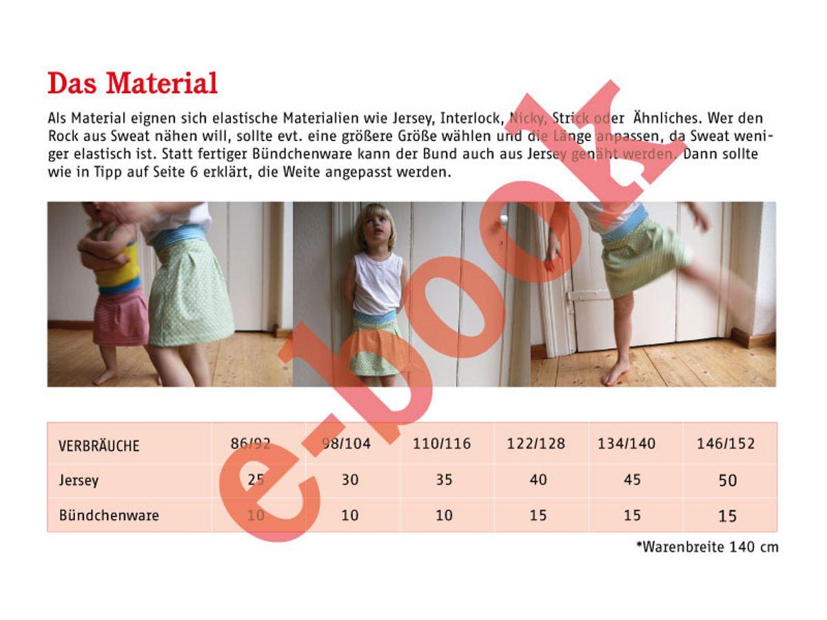 Produktfoto 2 von STUDIO SCHNITTREIF für Schnittmuster FRAU ANTJE & ANTJE Jerseyröcke im Partnerlook
