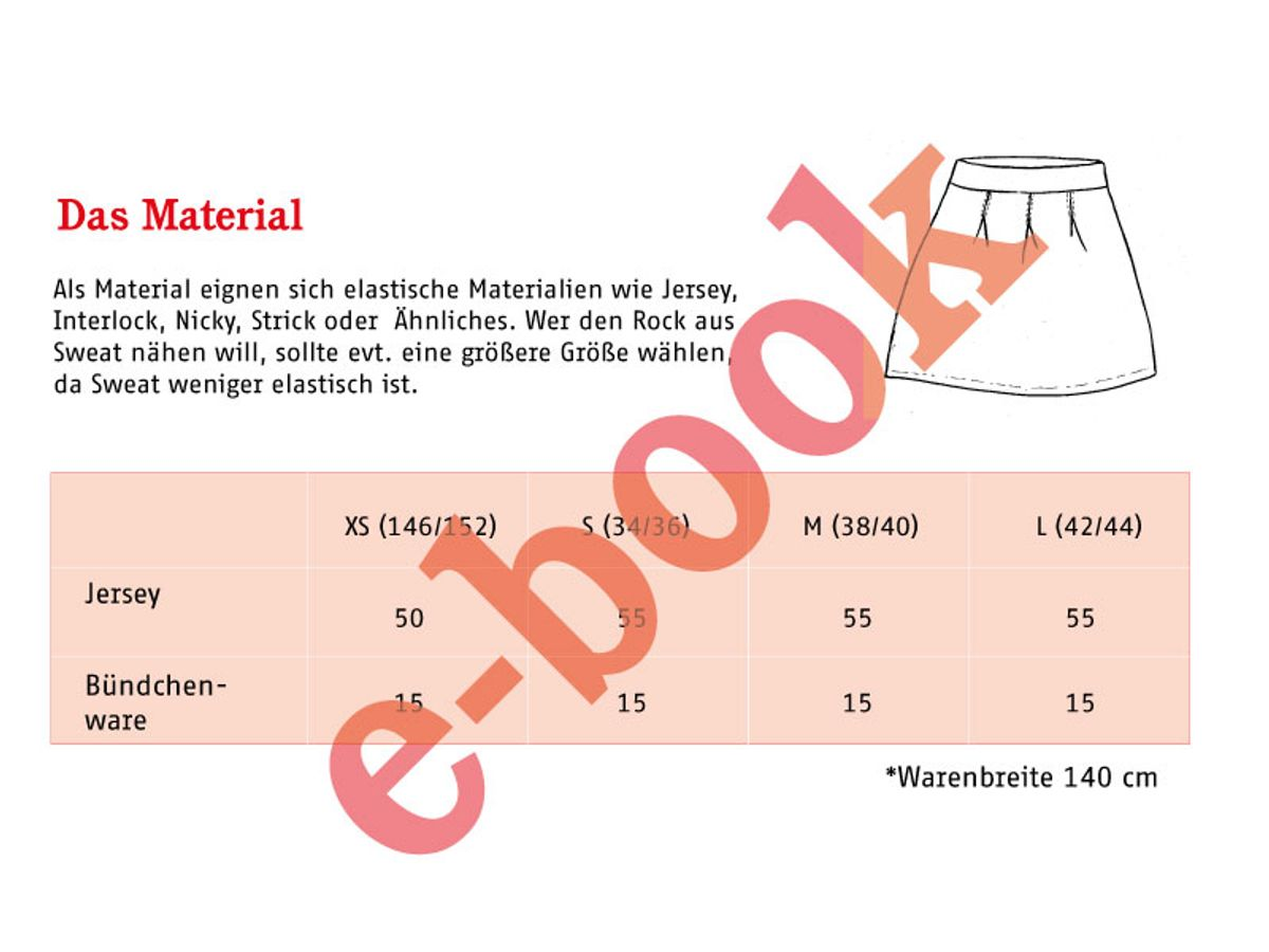 Produktfoto 3 von STUDIO SCHNITTREIF für Schnittmuster FRAU ANTJE & ANTJE Jerseyröcke im Partnerlook