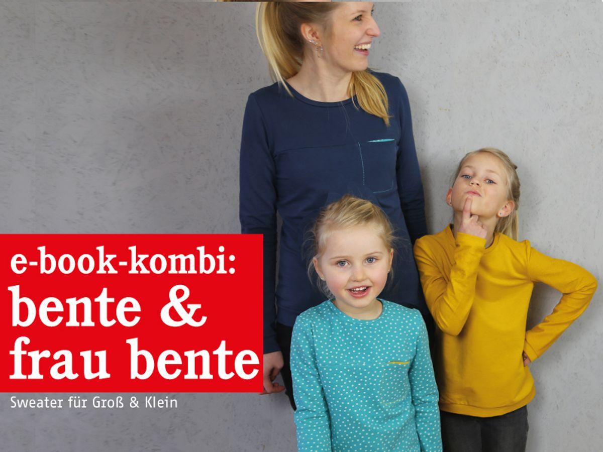 Produktfoto 1 von STUDIO SCHNITTREIF für Schnittmuster FRAU BENTE & BENTE Sweater im Partnerlook