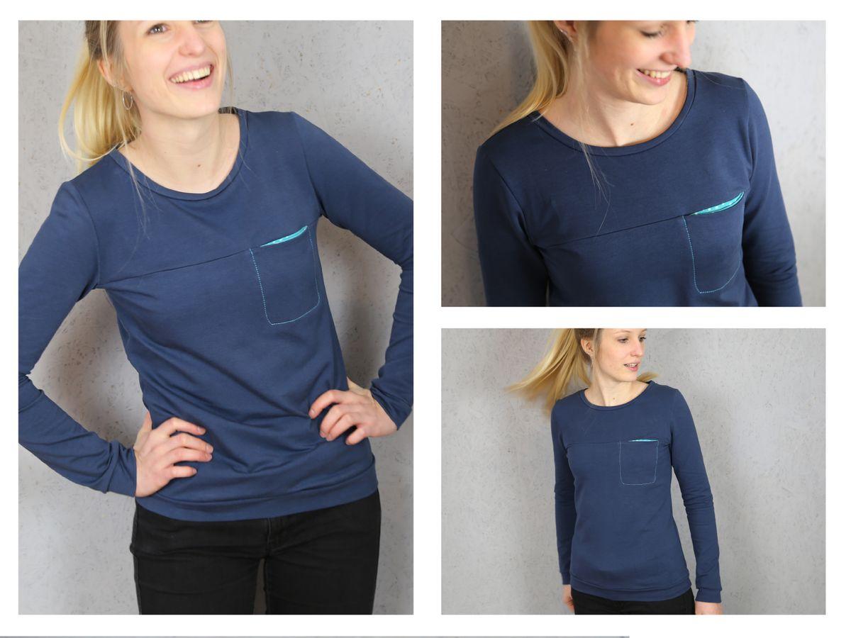Produktfoto 3 von STUDIO SCHNITTREIF für Schnittmuster FRAU BENTE & BENTE Sweater im Partnerlook