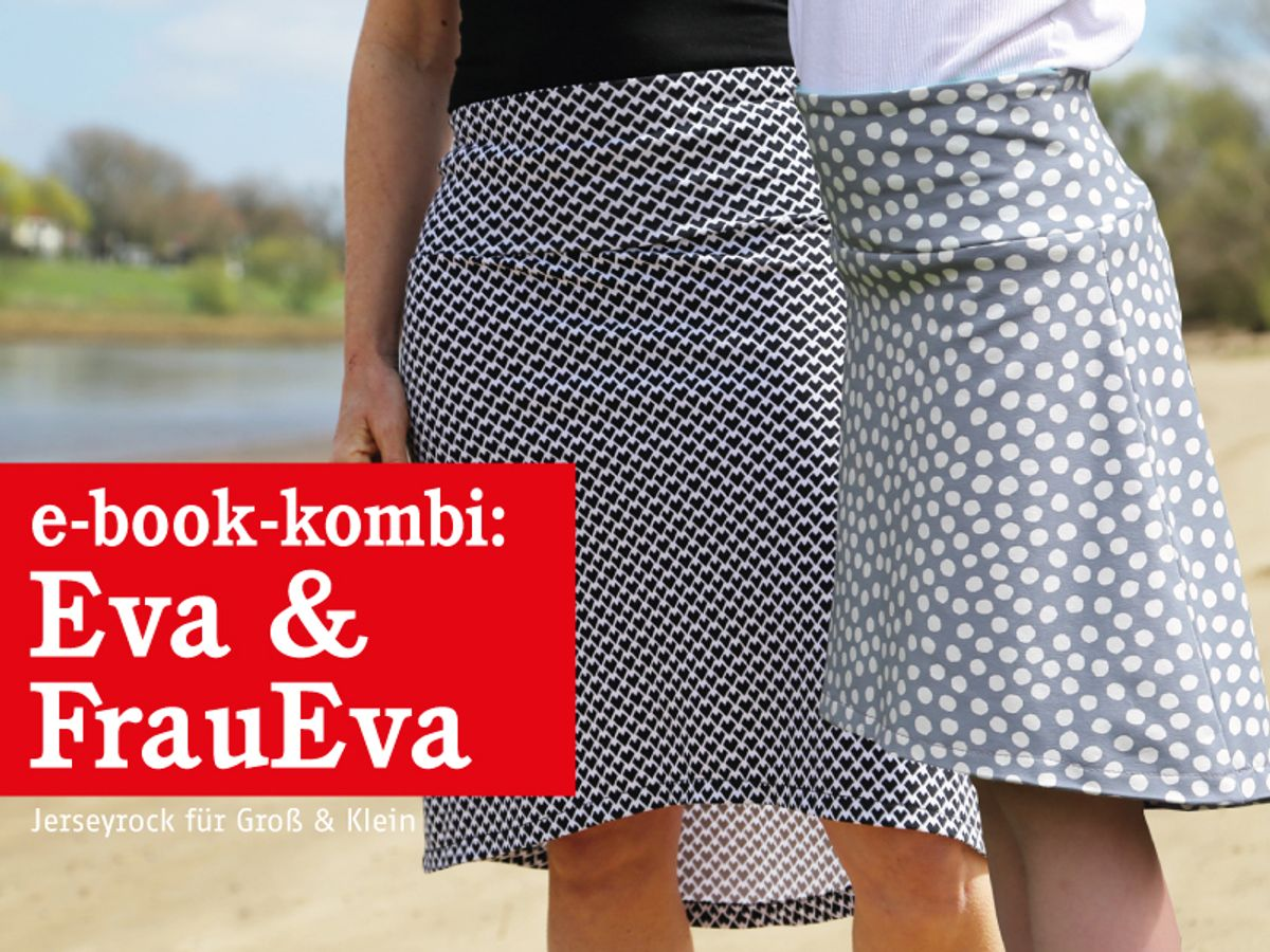 Produktfoto 1 von STUDIO SCHNITTREIF für Schnittmuster FRAU EVA & EVA Jerseyröcke mit Krempelbund