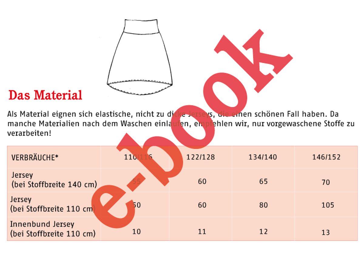 Produktfoto 4 von STUDIO SCHNITTREIF für Schnittmuster FRAU EVA & EVA Jerseyröcke mit Krempelbund