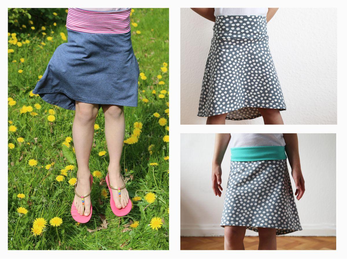 Produktfoto 5 von STUDIO SCHNITTREIF für Schnittmuster FRAU EVA & EVA Jerseyröcke mit Krempelbund