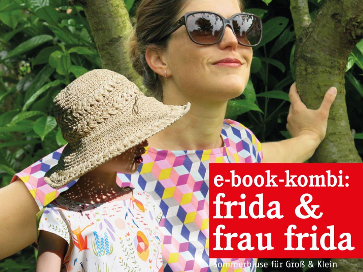 Produktfoto 1 von STUDIO SCHNITTREIF für Schnittmuster FRAU FRIDA 6 FRIDA lufige Sommerblusen im Partnerlook