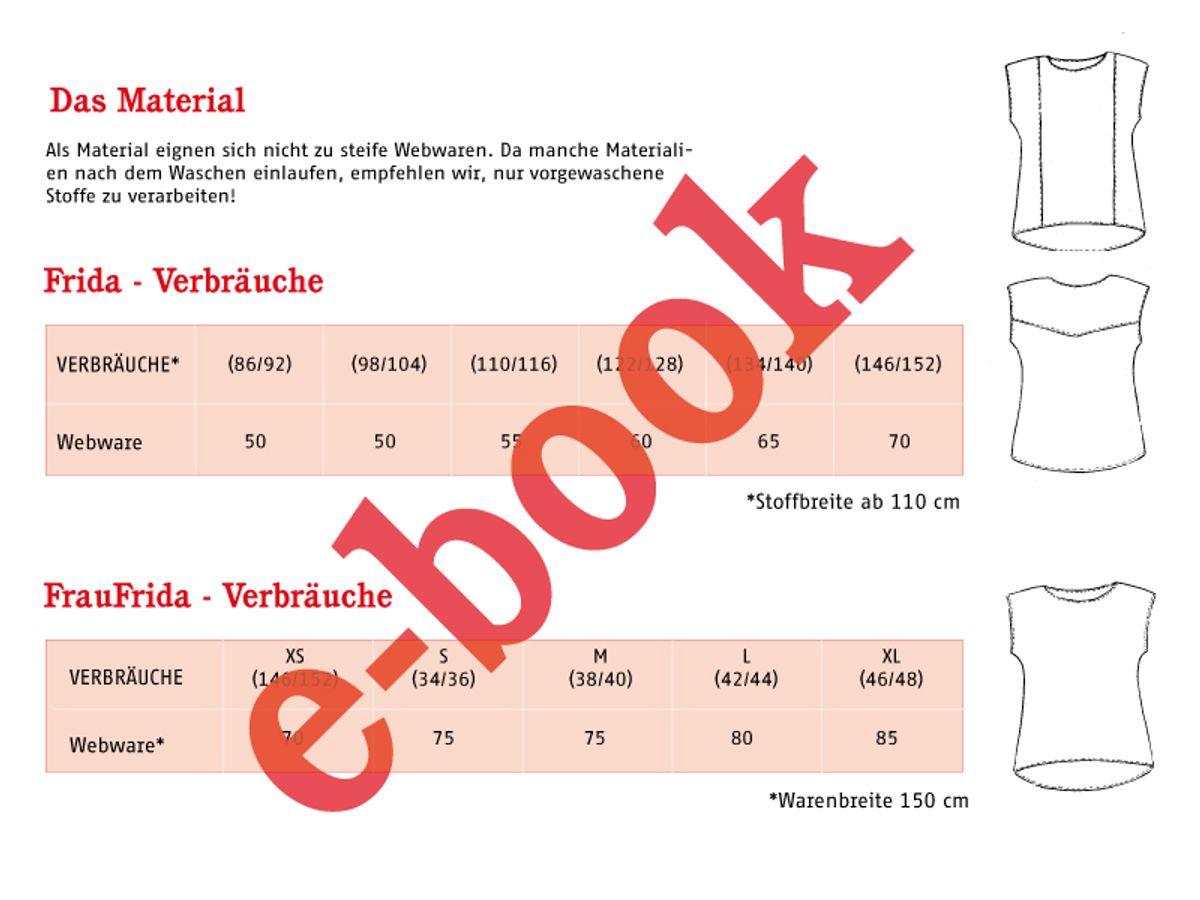 Produktfoto 2 von STUDIO SCHNITTREIF für Schnittmuster FRAU FRIDA 6 FRIDA lufige Sommerblusen im Partnerlook