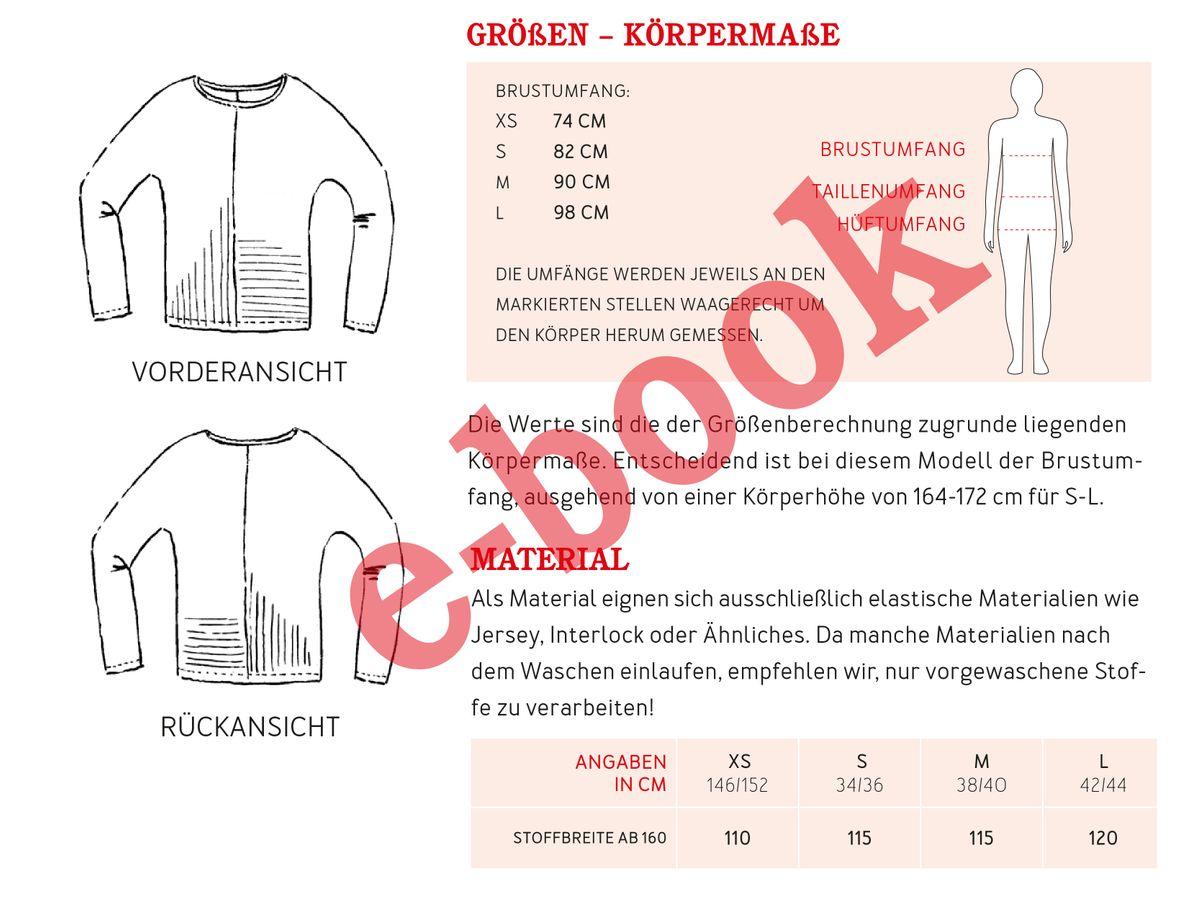 Produktfoto 2 von STUDIO SCHNITTREIF für Schnittmuster FRAU JETTE & JETTE Fledermausshirts im Partnerlook
