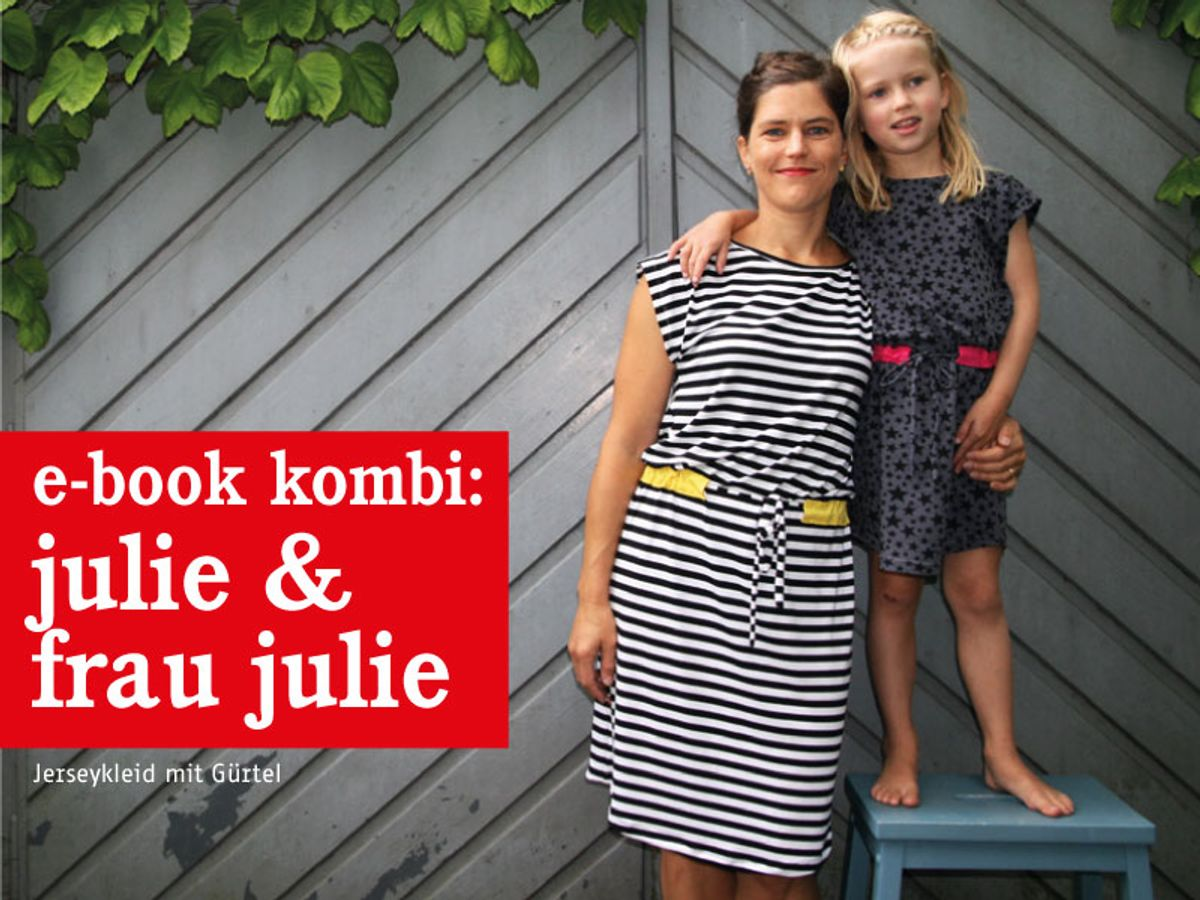 Produktfoto 1 von STUDIO SCHNITTREIF für Schnittmuster FRAU JULIE & JULIE Jerseykleider im Partnerlook