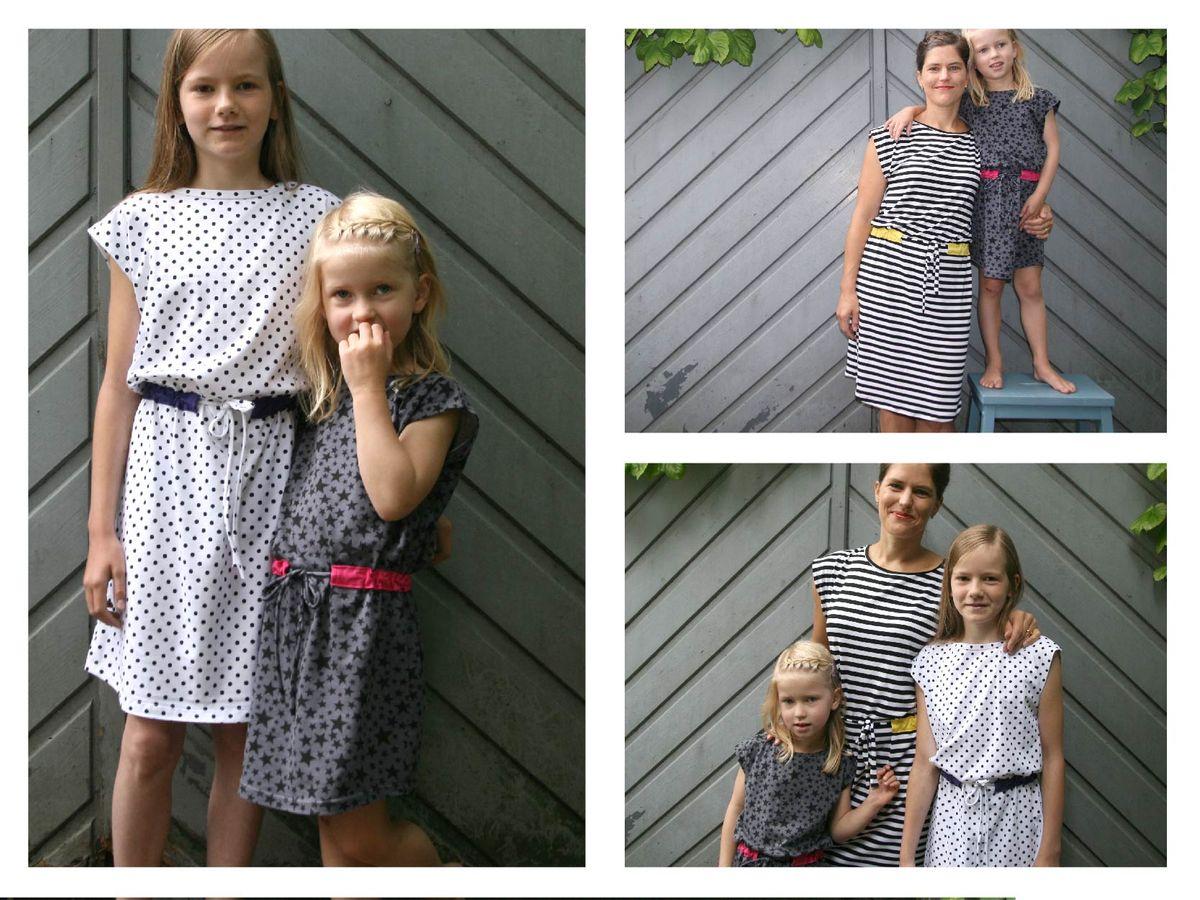 Produktfoto 2 von STUDIO SCHNITTREIF für Schnittmuster FRAU JULIE & JULIE Jerseykleider im Partnerlook