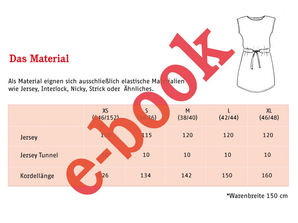 Produktfoto 3 von STUDIO SCHNITTREIF für Schnittmuster FRAU JULIE & JULIE Jerseykleider im Partnerlook