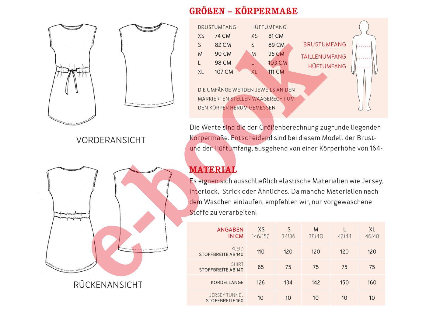 Produktfoto 4 von STUDIO SCHNITTREIF für Schnittmuster FRAU JULIE & JULIE Jerseykleider im Partnerlook