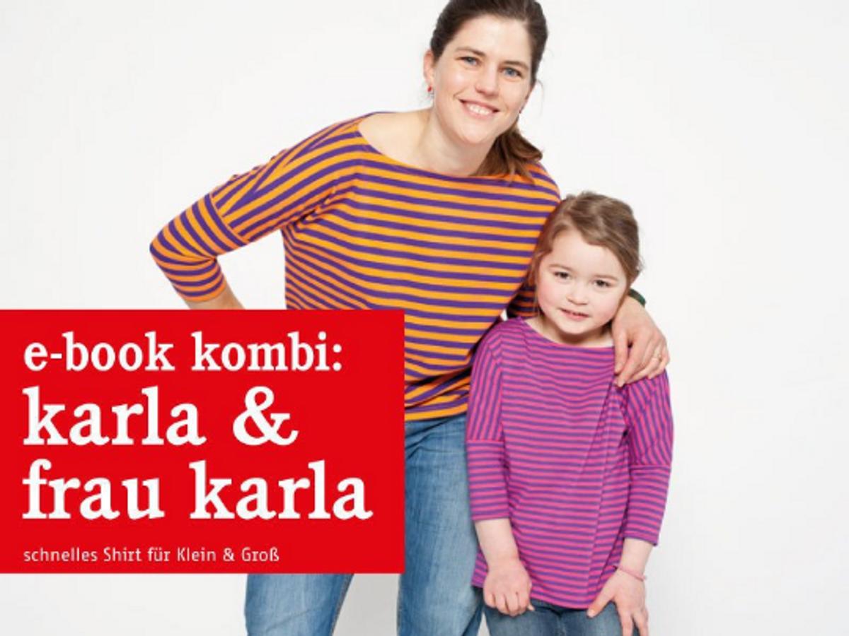 Produktfoto 1 von STUDIO SCHNITTREIF für Schnittmuster FRAU KARLA & KARLA Shirts im Partnerlook