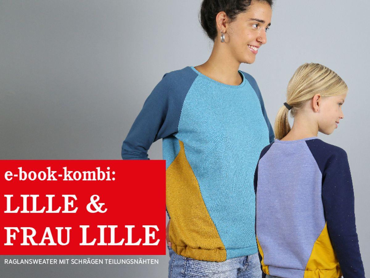 Produktfoto 1 von STUDIO SCHNITTREIF für Schnittmuster FRAU LILLE & LILLE Raglansweater im Partnerlook