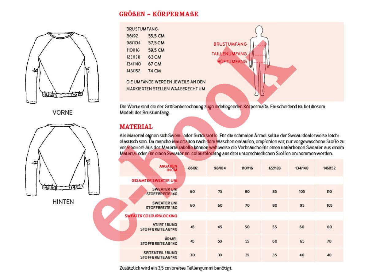 Produktfoto 3 von STUDIO SCHNITTREIF für Schnittmuster FRAU LILLE & LILLE Raglansweater im Partnerlook