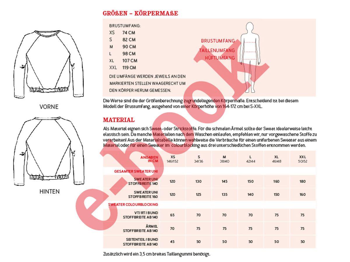 Produktfoto 4 von STUDIO SCHNITTREIF für Schnittmuster FRAU LILLE & LILLE Raglansweater im Partnerlook