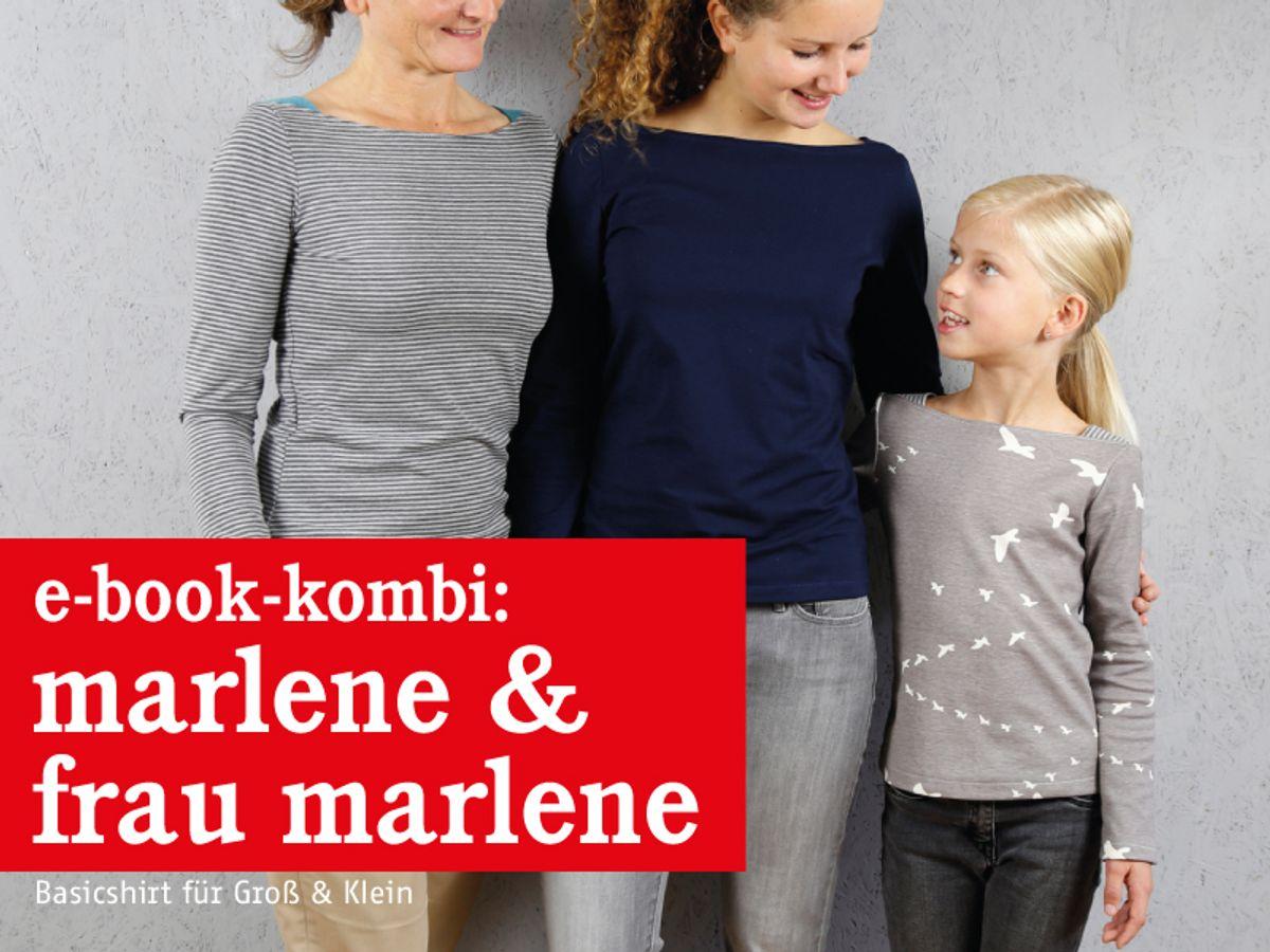 Produktfoto 1 von STUDIO SCHNITTREIF für Schnittmuster FRAU MARLENE & MARLENE Shirts im Partnerlook