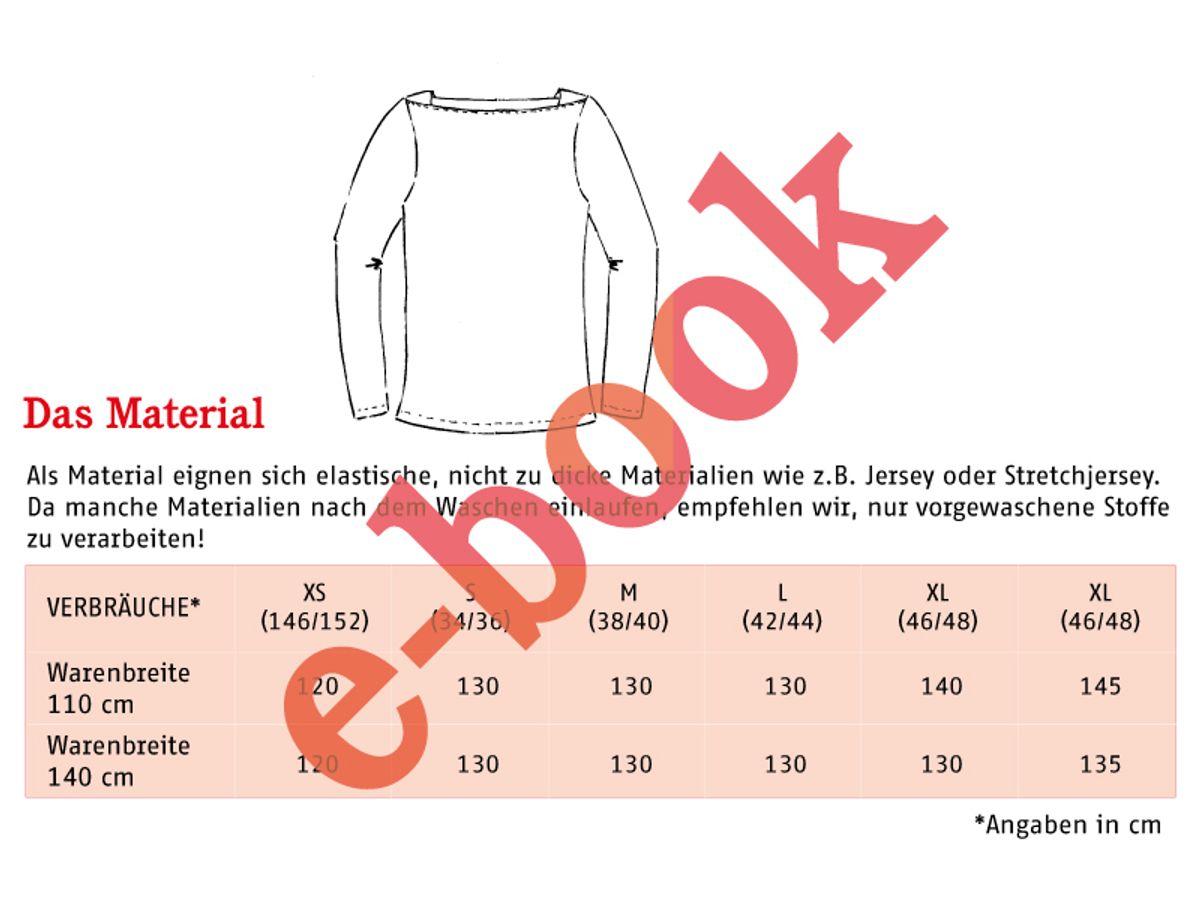 Produktfoto 3 von STUDIO SCHNITTREIF für Schnittmuster FRAU MARLENE & MARLENE Shirts im Partnerlook