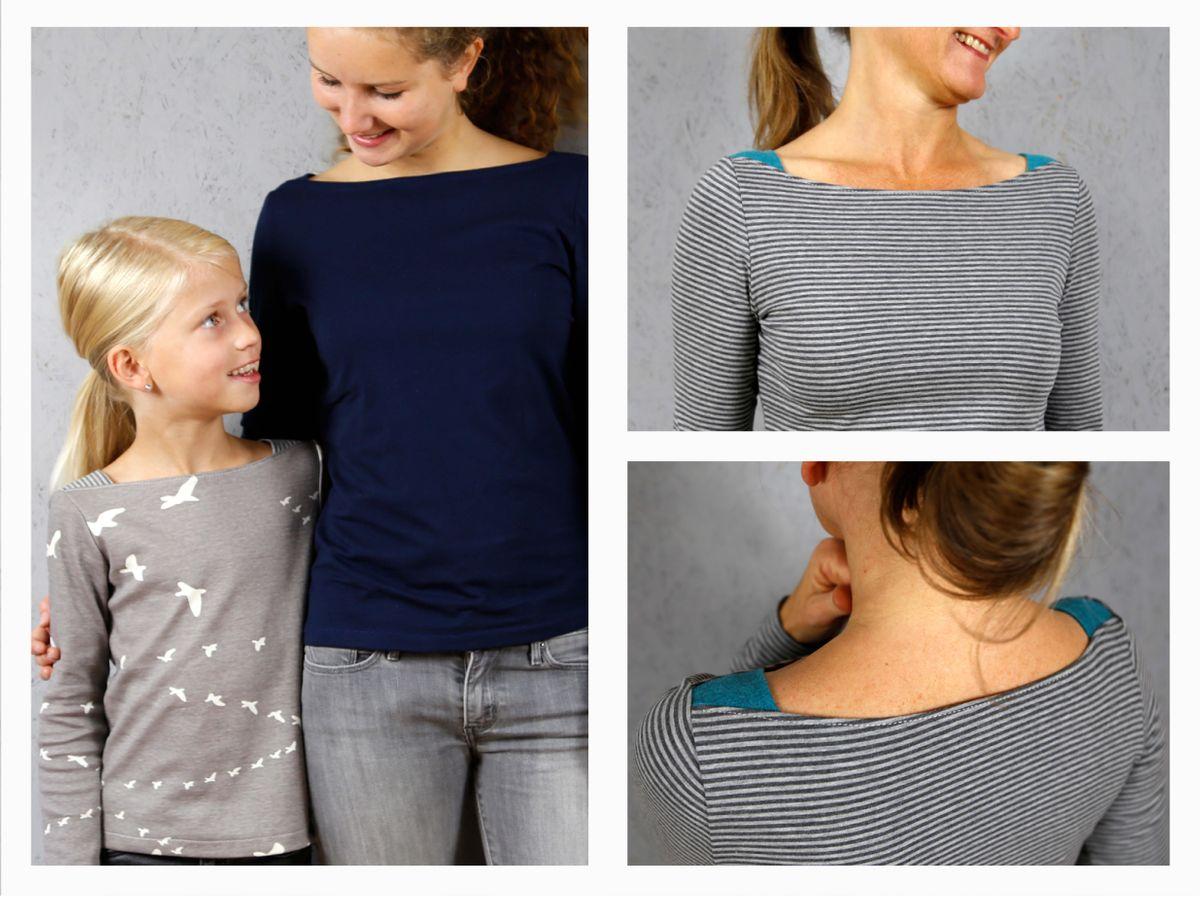 Produktfoto 4 von STUDIO SCHNITTREIF für Schnittmuster FRAU MARLENE & MARLENE Shirts im Partnerlook
