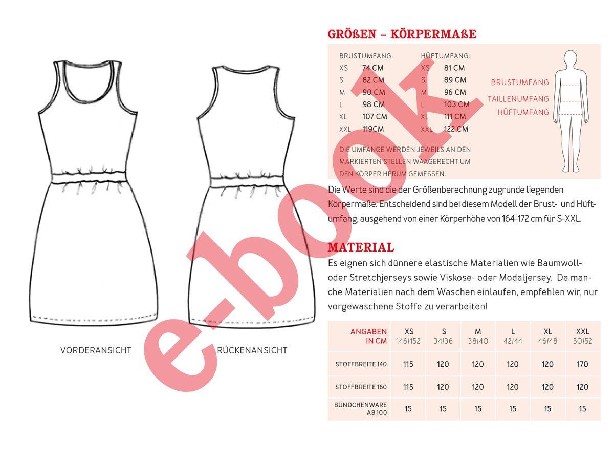 Produktfoto 4 von STUDIO SCHNITTREIF für Schnittmuster FRAU NELE & NELE Trägerkleider im Partlerlook