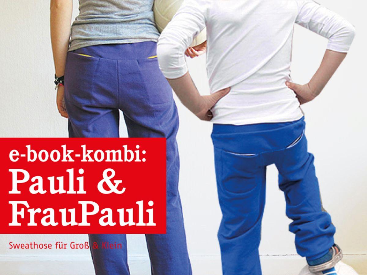 Produktfoto 1 von STUDIO SCHNITTREIF für Schnittmuster FRAU PAULI & PAULI Sweathosen im Partnerlook