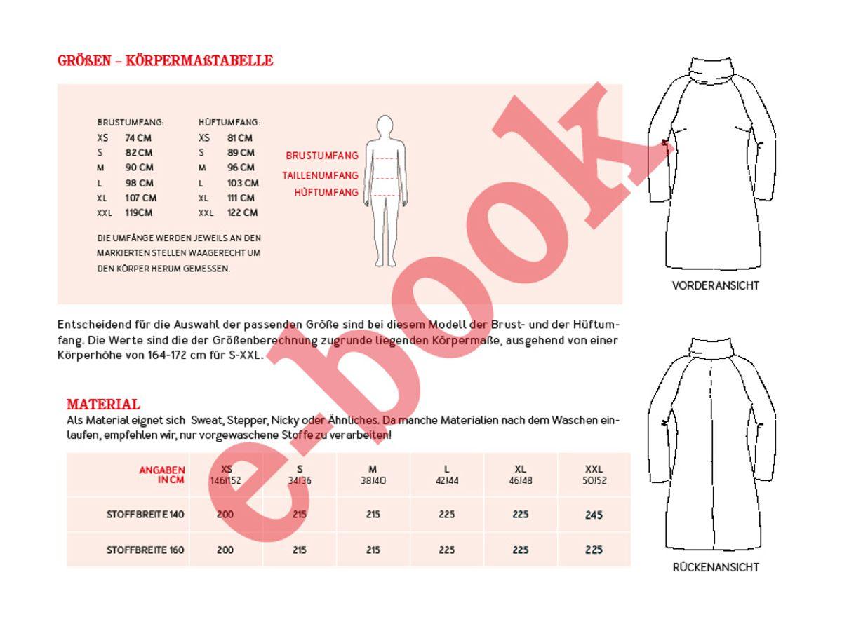 Produktfoto 4 von STUDIO SCHNITTREIF für Schnittmuster FRAU POLLY & POLLY Rollkragenkleider im Partnerlook