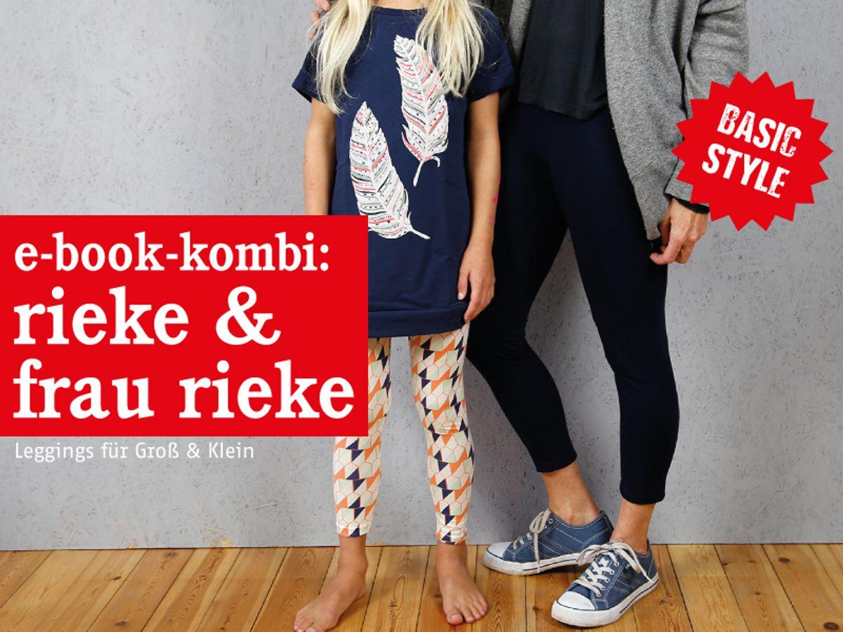 Produktfoto 1 von STUDIO SCHNITTREIF für Schnittmuster FRAU RIEKE & RIEKE Leggings im Partnerlook
