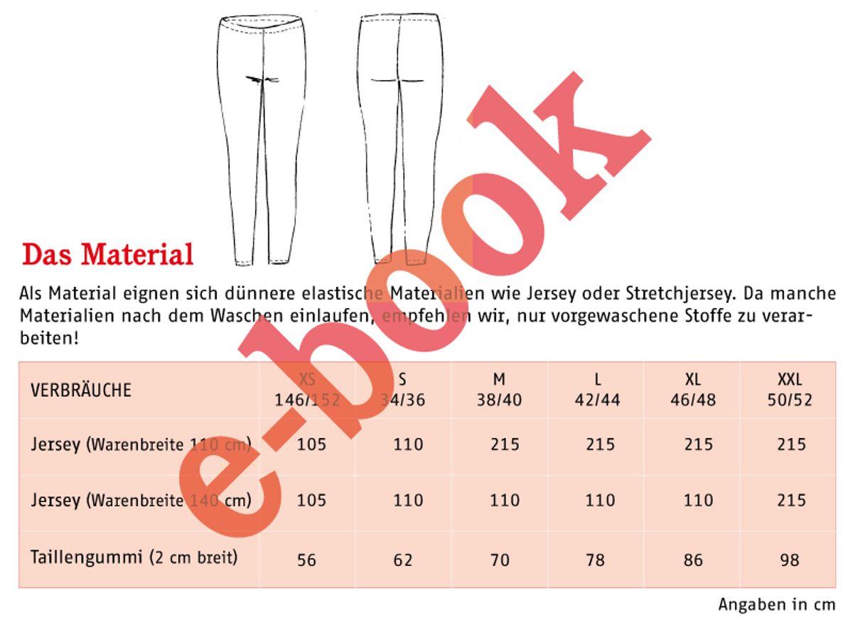 Produktfoto 2 von STUDIO SCHNITTREIF für Schnittmuster FRAU RIEKE & RIEKE Leggings im Partnerlook